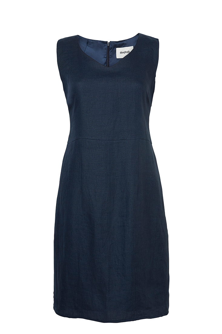 c3a5d0ed225 Alice klänning blå linne - Dughult of Sweden