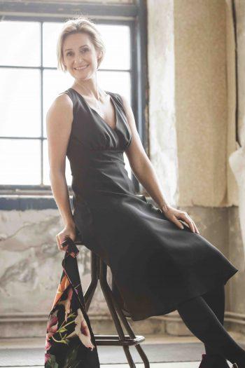 Magda klänning svart Dughult of Sweden